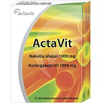 Maisto papildas ActaVit Nakvišų aliejus 1000mg kapsulės N60