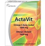Maisto papildas ActaVit Omega 3 žuvų taukai 1000mg kapsulės N60