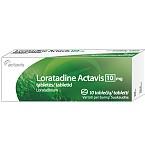 Loratadine Actavis (Loradon) 10mg tabletės N10