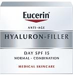 Eucerin Hyaluron Filler dieninis kremas normaliai/mišriai odai SPF15 50ml