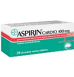 Aspirin Cardio 100mg skrandyje neirios tabletės N28