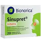 Sinupret intens (suaugusiesiems) 160mg dengtos tabletės N20