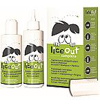 LICEOUT gydymo nuo galvos utėlių rinkinys (125ml losjonas + 125ml šampūnas + šukos ) N1