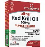 Maisto papildas Ultra Red Krill Oil kapsulės N30