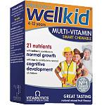 Maisto papildas WellKid kramtomosios tabletės N30