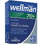 Maisto papildas Wellman 70+ tabletės N30
