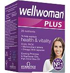Maisto papildas Wellwoman Plus kapsulės ir tabletės N28+28