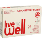 Maisto papildas LIVE WELL CRANBERRY Forte minkštosios kapsulės N20