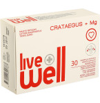 Maisto papildas LIVE WELL CRATAEGUS + MG minkštosios kapsulės N30