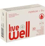 Maisto papildas LIVE WELL Ferrum + B12 kapsulės N30