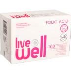 Maisto papildas LIVE WELL FOLIC ACID kapsulės N100
