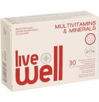 Maisto papildas LIVE WELL MULTIVITAMINS & MINERALS minkštosios kapsulės N30