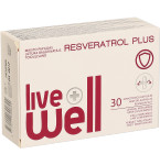 Maisto papildas LIVE WELL RESVERATROL PLUS minkštosios kapsulės N30