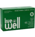 Maisto papildas LIVE WELL VEGETARIAN OMEGA 3 - 6 - 9 minkštosios kapsulės N60