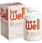 Maisto papildas LIVE WELL OMEGA 3 kapsulės N60