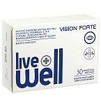Maisto papildas LIVE WELL Vision Forte minkštosios kapsulės N30