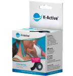 Kineziologinis teipas K - Active Classic 5cmx5m (juodas)
