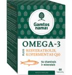Maisto papildas Omega 3 Plius Resveratrolis Kofermentas Q10 minkštos kapsulės N60