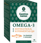 Omega 3 Plius Resveratrolis Kofermentas Q10 minkštos kapsulės N60