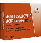 Acetylsalicylic acid Grindeks 500mg tabletės N10