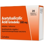 Acetylsalicylic acid Grindeks 500mg tabletės N20