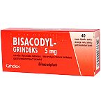Bisacodyl - Grindeks 5mg skrandyje neirios tabletės N40