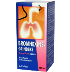 Bromhexine - Grindeks 4mg/5ml sirupas 100ml