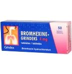 Bromhexine - Grindeks 4mg tabletės N50