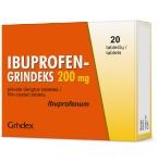 IBUPROFEN - GRINDEKS 200mg plėvele dengtos tabletės N20