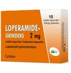 Loperamide - Grindeks 2mg kietosios kapsulės N10