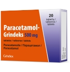 Paracetamol - Grindeks 500mg tabletės N20