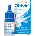 Otrivin 0.1% nosies lašai, tirpalas 10ml