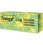 Tavegyl 1mg tabletės N20