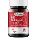 Vitaminas B12 1000mcg poliežuvinės tabletės N30 Lifeplan