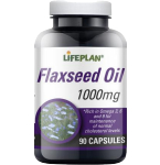 Flaxseed Oil Lifeplan 1000mg kapsulės N90