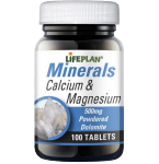 Maisto papildas Lifeplan Kalcis ir magnis tabletės N100