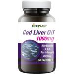 Cod Liver Oil 1000mg kapsulės N60 Lifeplan