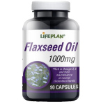 Maisto papildas Flaxseed Oil Lifeplan 1000mg kapsulės N90
