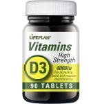Maisto papildas Vitaminas D3 4000TV tabletės N90 Lifeplan