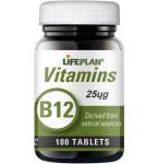 Maisto papildas Vitaminas B12 25mcg N100 Lifeplan