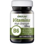 Vitaminas B6 100mg (Hi Strenght) tabletės N60
