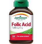 Maisto papildas Jamieson Folio rūgštis 1mg tabletės N100