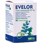 Maisto papildas Evelor (trans resveratrolis) 50mg kapsulės N90