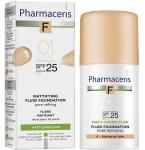 Pharmaceris F Mattifying fluid poras siaurinanti matinė pudra Nr.1 30ml