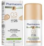 Pharmaceris F Mattifying fluid poras siaurinanti matinė pudra Nr.3 30ml
