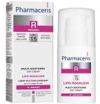 Pharmaceris R įvairiapusiško poveikio raminamasis kremas veidui, sausai, normaliai ir jautriai odai SPF15 Lipo - Rosalgin 30ml