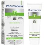 Pharmaceris T drėkinamasis - raminamasis kremas veidui SPF30 gydymo nuo spuogų metu ir po gydymo Sebo - Moistatic 50ml