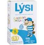Lysi Children Omega kramtomosios kapsulės vaisių skonio su saldikliu N60