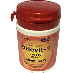 ORIOVIT - D 100mcg kramtomosios tabletės N100