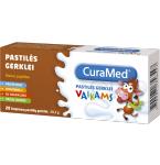 Maisto papildas CuraMed pastilės gerklei vaikams N20